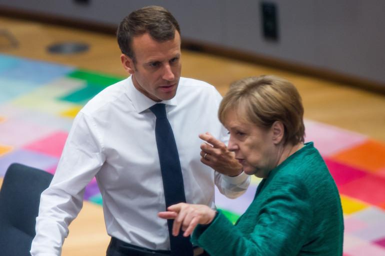 Emmanuel Macron et Angela Merkel à Bruxelles le 28 juin 2018.