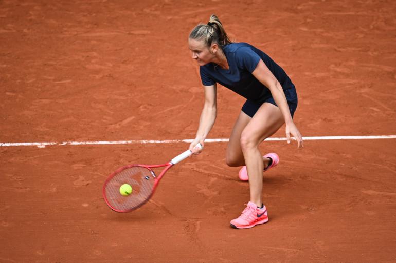 La Française Fiona Ferro à Roland-Garros le 3 octobre 2020