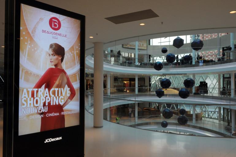 Le centre commercial de Beaugrenelle dans le XVe arrondissement de Paris.