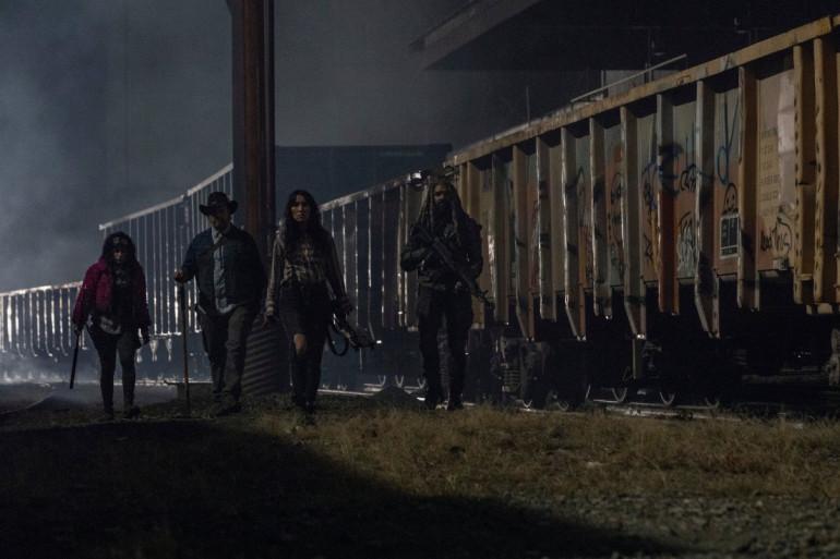 """Princesse, Yumiko, Eugene et Ezekiel dans le final de la saison 10 de """"The Walking Dead"""""""