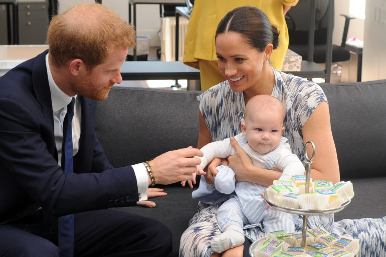 Archie, Meghan et Harry en Afrique du Sud en septembre 2019