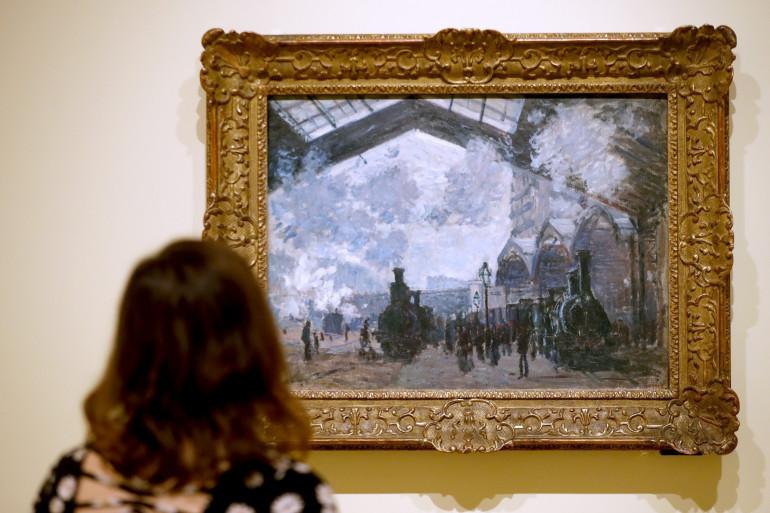"""Le tableau """"La gare Saint-Lazare"""" de Pierre-Auguste Renoir à la Fondation Louis Vuitton len 2019"""