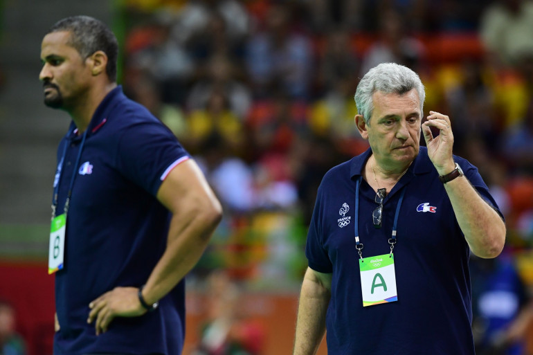 Didier Dinart et Claude Onesta à Rio le 7 août 2016