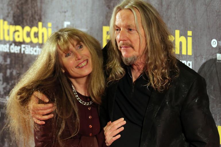 Wolfgang Beltracchi et sa femme a la première du film inspiré de sa vie en 2014, à Cologne.