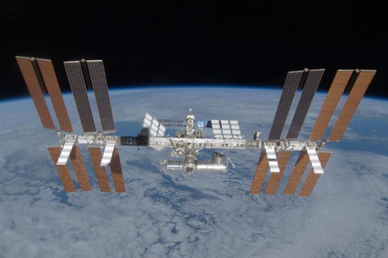 La Station spatiale internationale, vue depuis la navette spatiale Discovery (Image d'illustration).
