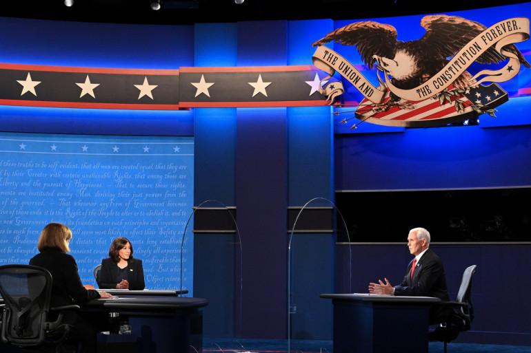 Le débat entre Mike Pence et Kamala Harris, le 7 octobre 2020, à Salt Lake City (Utah).
