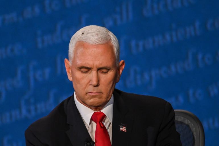 Une mouche s'est posée sur la tête de Mike Pence pendant plusieurs minutes lors du débat des co-listiers.