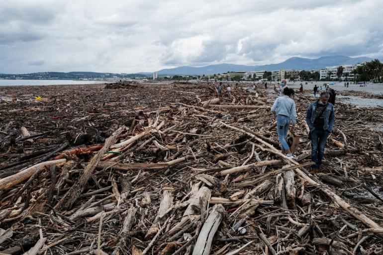 Saint-Laurent-du-Var, une commune dévastée par la tempête Alex (Alpes-Maritimes), le 4 octobre 2020.