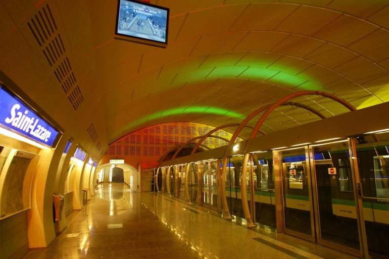 Le ligne de métro 14 (illustration)