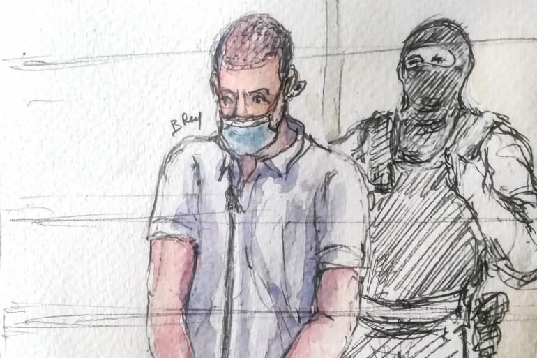 Nezar Mickael Pastor Alwatik, lors du procès des attentats de janvier 2015, le 23 septembre 2020.