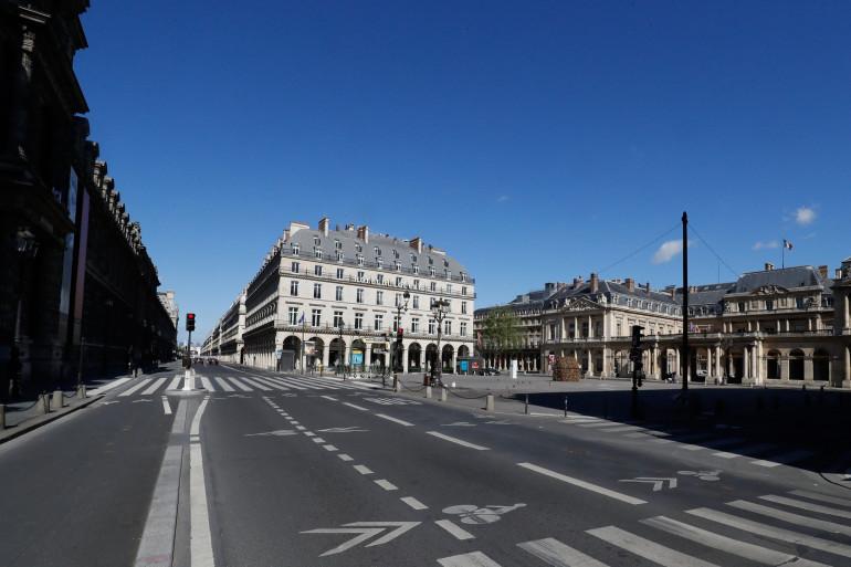 La rue de Rivoli à Paris, déserte pendant le confinement (image d'illustration)