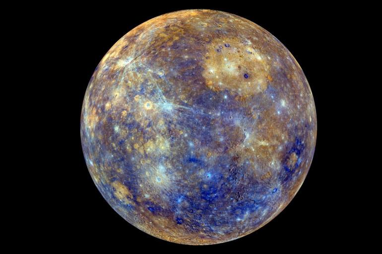 Une photo de la planète Mercure colorisée par la Nasa le 21 février 2013
