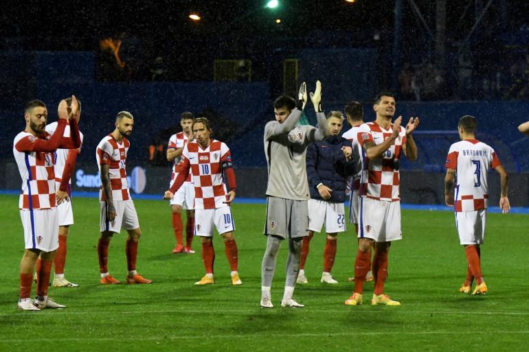 Les Croates au stade Maksimir le 11 octobre 2020
