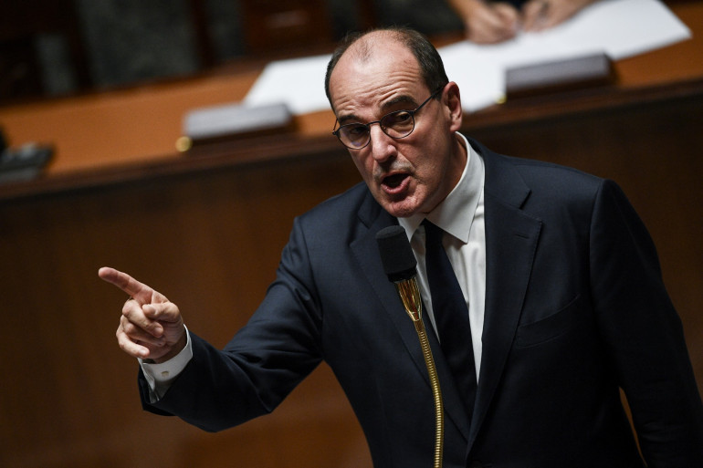 Le Premier ministre Jean Castex devant l'Assemblée nationale, le 6 octobre 2020.