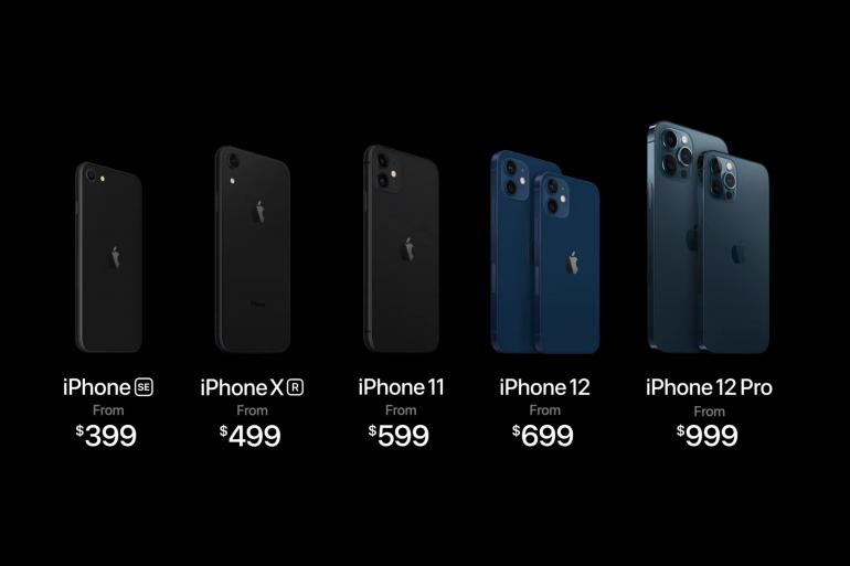 Le nouveau catalogue des iPhone vendus par Apple fin 2020
