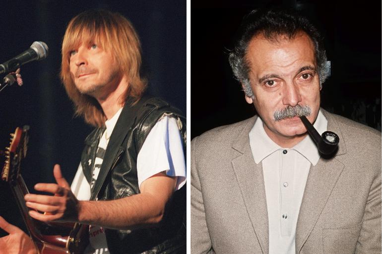 Renaud en 1995 et Georges Brassens en 1971