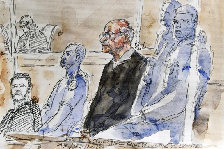 Joël Le Scouarnec lors de son procès à Saintes (Charente-Maritime), le 13 mars 2020.