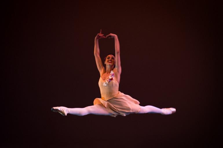 Une danseuse du théâtre San Carlo, à Naples