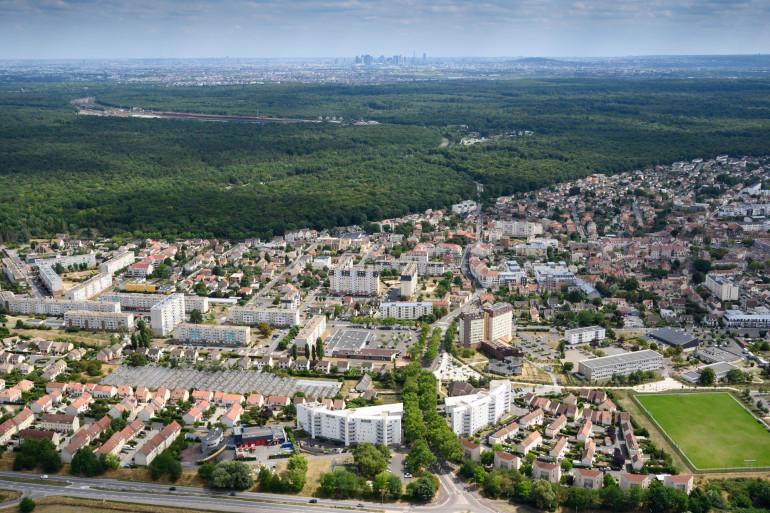 Une vue aérienne de Conflans-Sainte-Honorine (Yvelines)