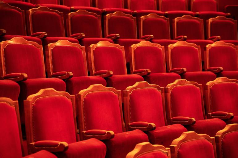 Une salle de théâtre vide pendant la crise sanitaire (illustration).
