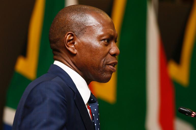 Zweli Mkhize, le ministre de la Santé en Afrique du sud, le 24 mars 2020.