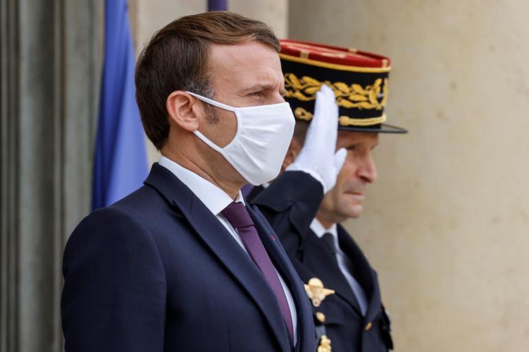 Emmanuel Macron, le 19 octobre 2020 à l'Élysée, à Paris.