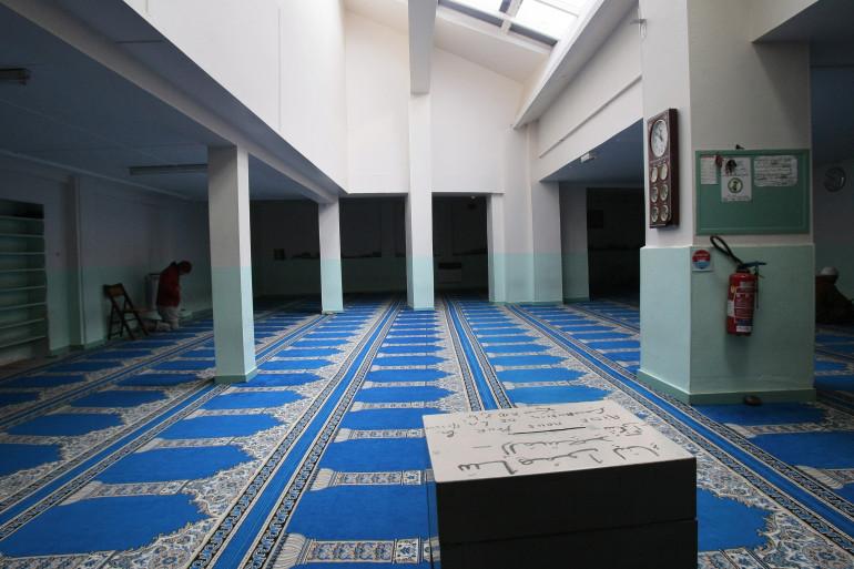 Une salle de prière dans une mosquée de Pantin (illustration)