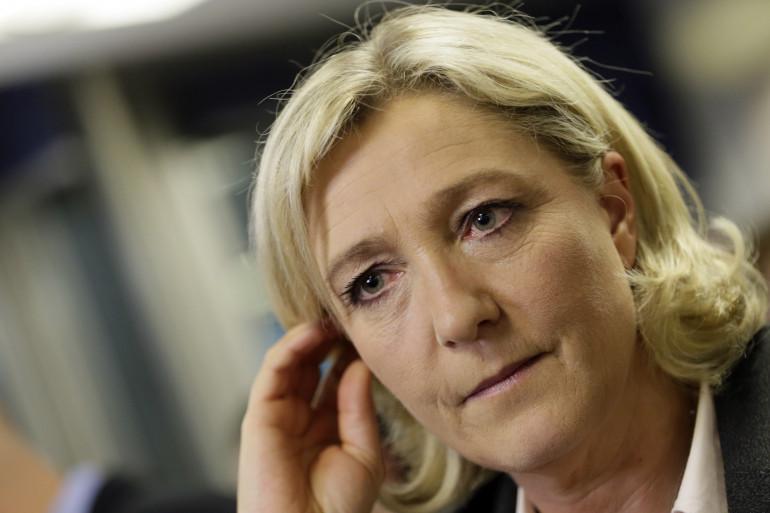 La présidente du Front national Marine Le Pen, le 30 mars 2014 à Nanterre
