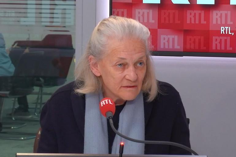Élisabeth Badinter, le 21 octobre 2020, sur RTL