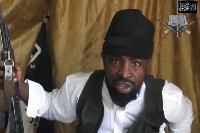 Le leader de Boko Haram Abubakar Shekau, ici dans une vidéo le 24 mars 2014 (Archives)