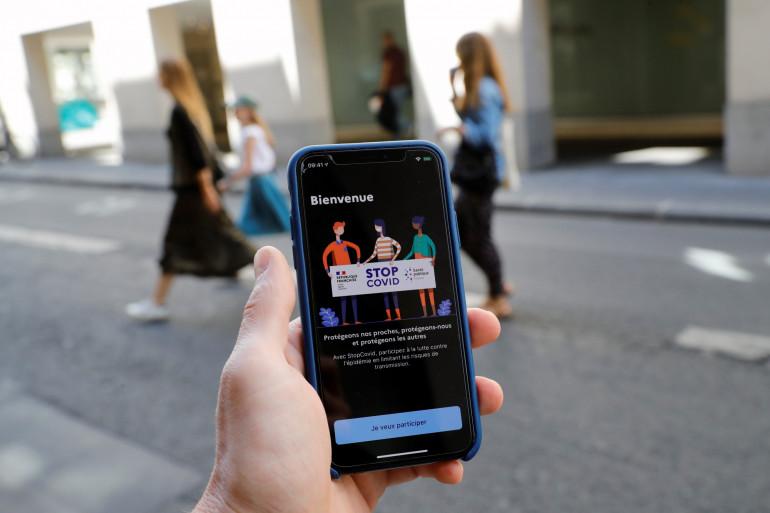 L'application de suivi des contacts StopCovid en France (illustration)