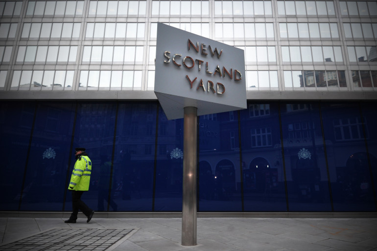 Le parvis de Scotland Yard, siège de la police londonienne, le 11 janvier 2013 (archives)