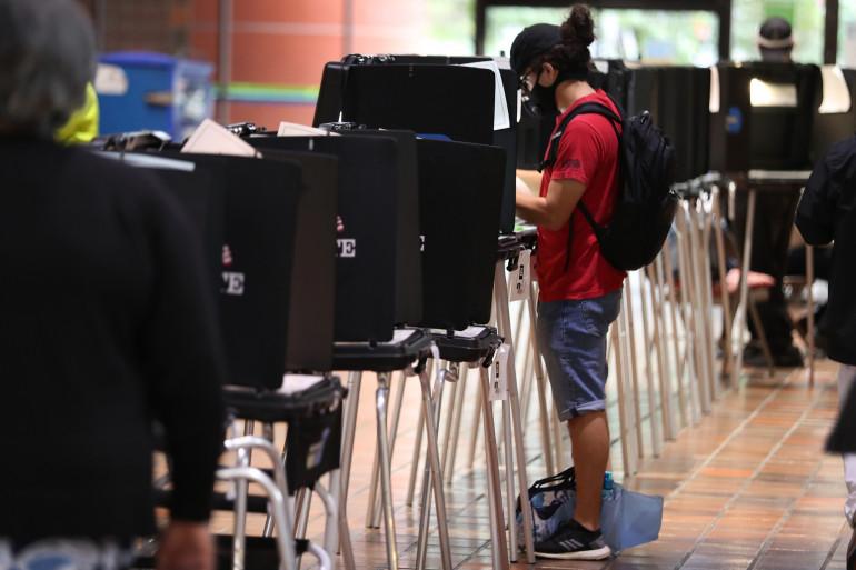 Illustration vote anticipé à Miami, en Floride, le 21 octobre 2020