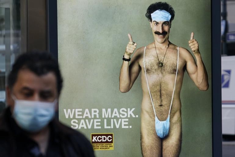"""L'affiche de """"Borat 2"""", le 15 octobre 2020"""