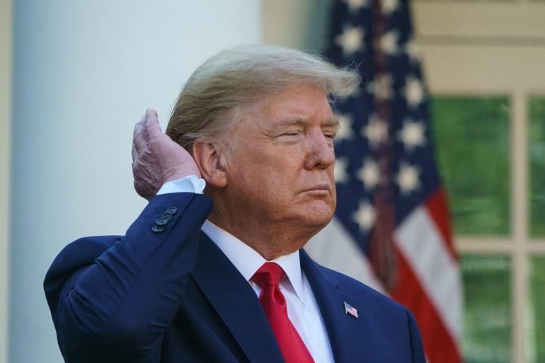 Donald Trump à la Maison Blanche en mars 2020