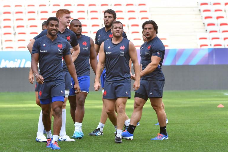 L'équipe de France de rugby à l'entraînement en août 2019