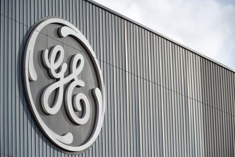 La devanture d'une usine General Electrics, à Belfort, en France, le 8 décembre 2011.