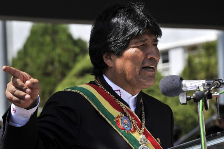 Evo Morales, président bolivien, ici le 25 avril 2014, a augmenté le salaire minimum de 20%