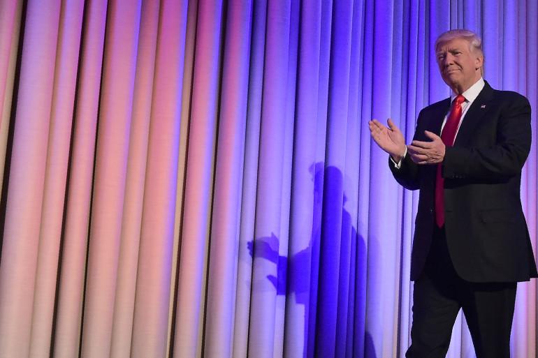 Donald Trump, le soir de sa victoire à la présidentielle le 9 novembre 2016