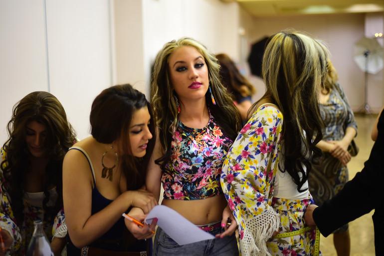 """Des participantes au concours """"Miss et Mister Gitan"""", le 9 mai 2014 à Madrid"""