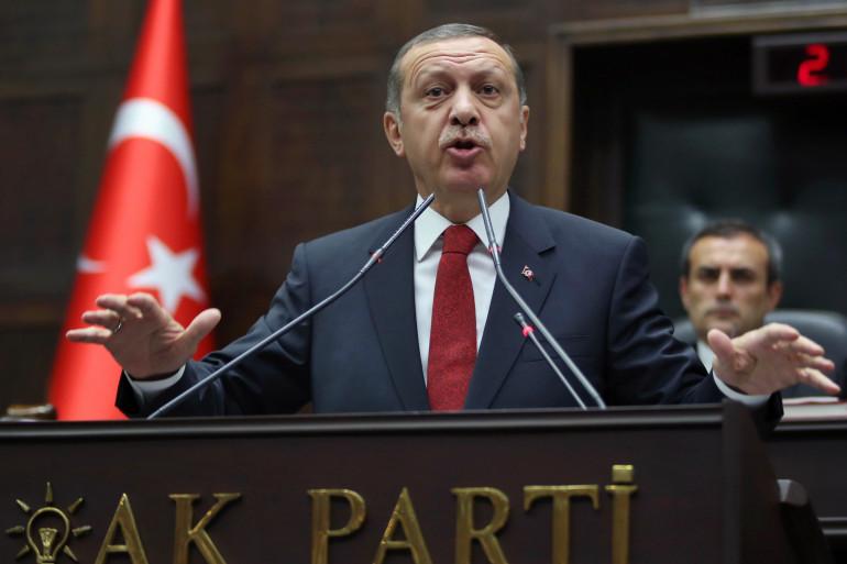 Le chef du gouvernement turc Recep Tayyip Erdogan lors d'un meeting de son parti, le 13 mai 2014 à Ankara