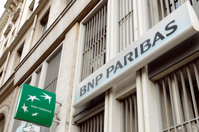 L'enseigne d'une agence bancaire BNP Paribas, le 31 janvier 2008 à Paris (archives)