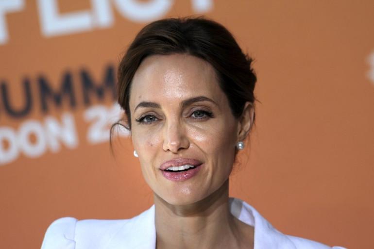 L'actrice Angelina Jolie à Londres ce mardi 10juin lors du sommet sur le viol en temps de guerre.