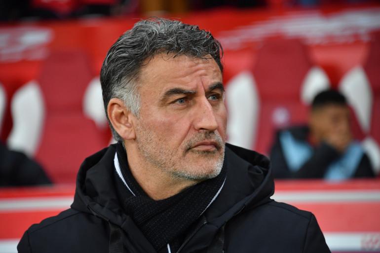 Christophe Galtier, entraîneur de Lille LOSC lors d'une rencontre contre l'OL (L1) à Villeneuve-d'Ascq, le 8 mars 2020.