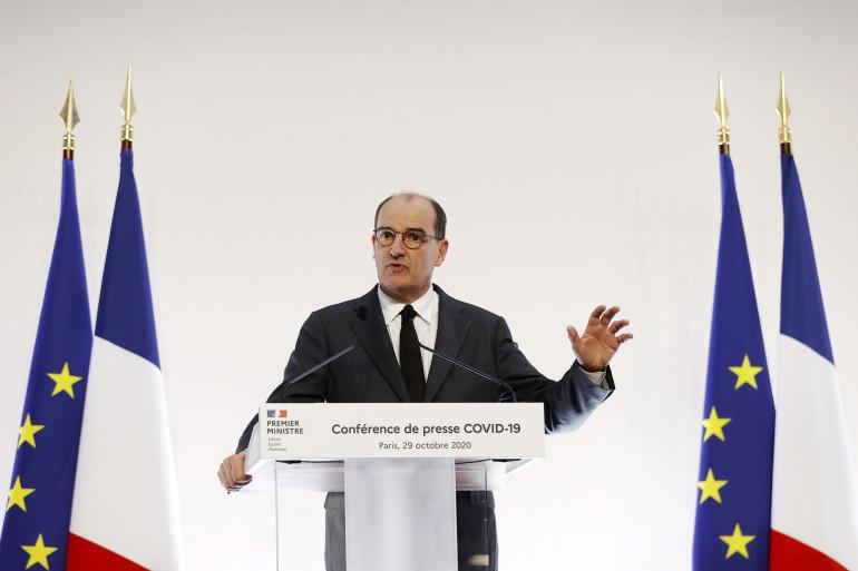 Le Premier ministre Jean Castex lors d'un point presse le jeudi 29 octobre 2020.