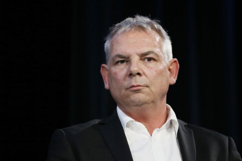 Le secrétaire général de la CGT, Thierry Lepaon, à Paris le 7 avril 2014 (Archives).