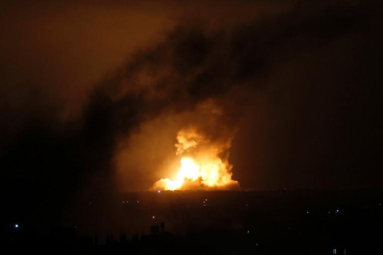 L'armée israélienne a bombardé ce mercredi 9 juillet le sud de Gaza, ici près de Rafah.