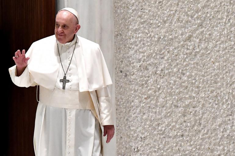 Le pape François au Vatican, le 28 octobre 2020.