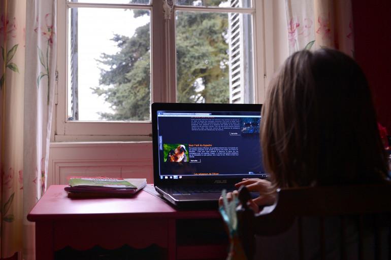 Un adolescent surfe sur internet (illustration)