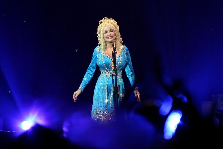 Dolly Parton en concert en 2008